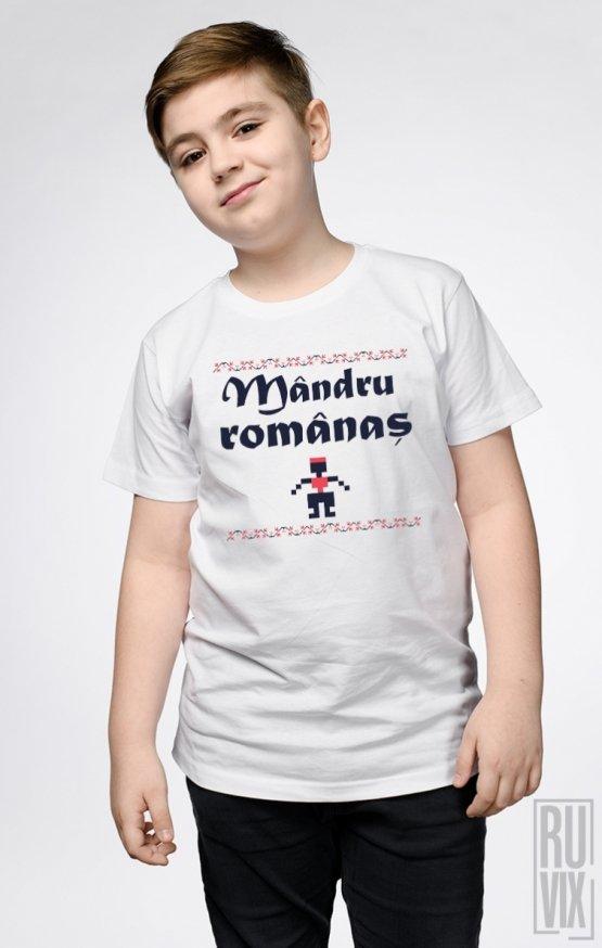 Tricou de Copii MÂNDRU ROMÂNAȘ