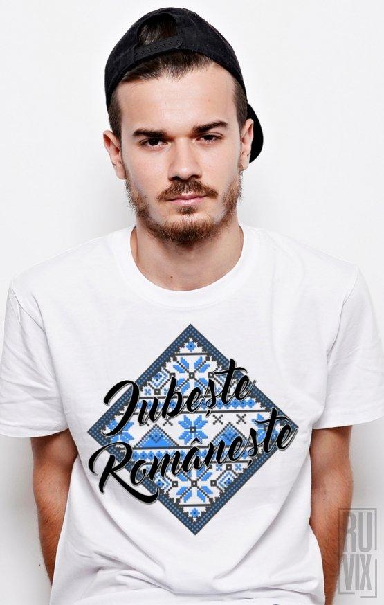 Tricou Iubește Românește ALBASTRU