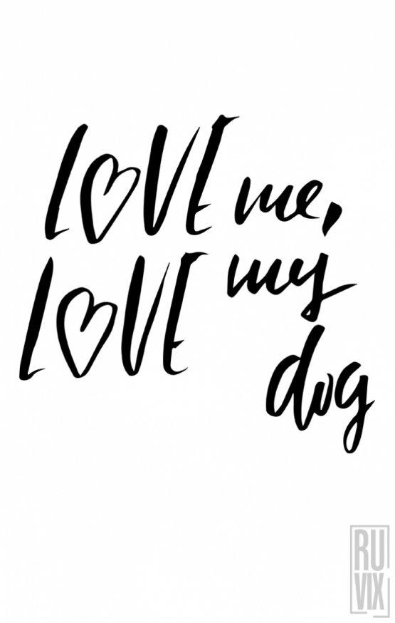 Tricou Love My Dog