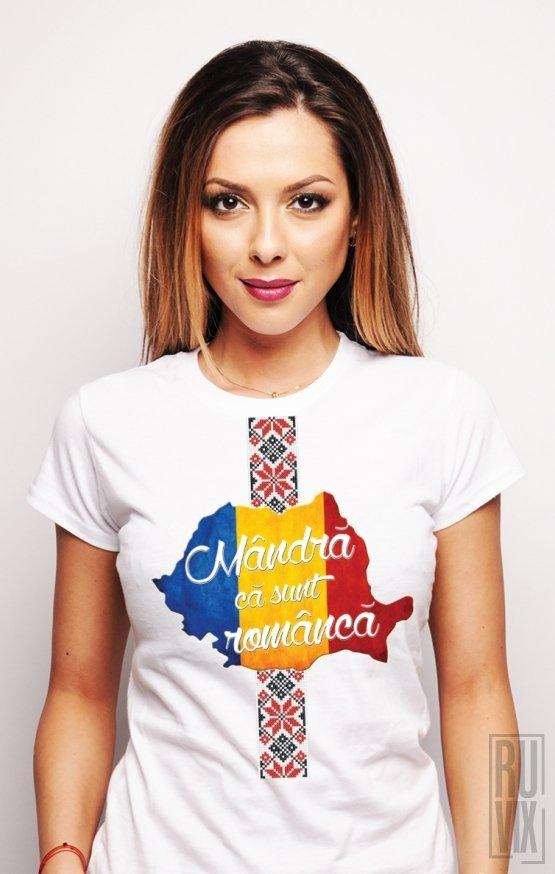 Tricou Mândră că sunt Româncă