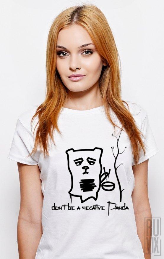 Tricou Negative Panda