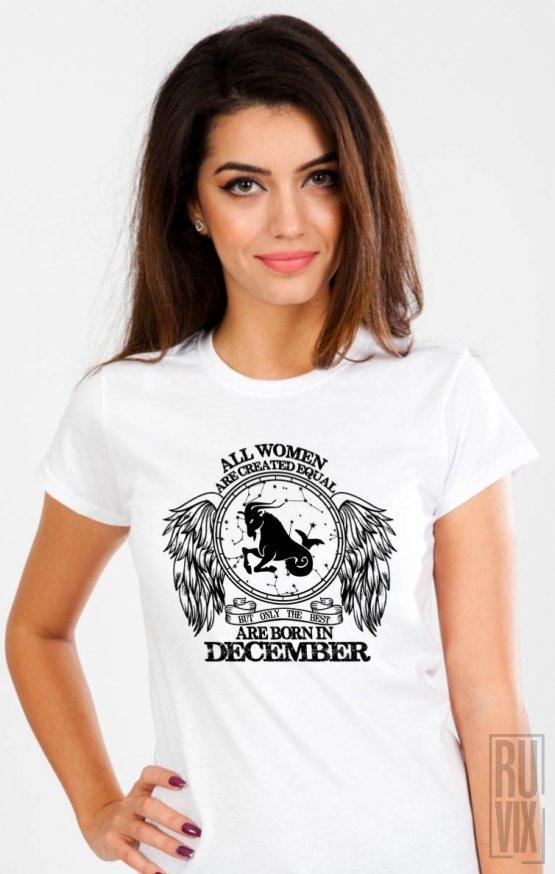 Tricou Capricorn - Zodiac Decembrie Dama