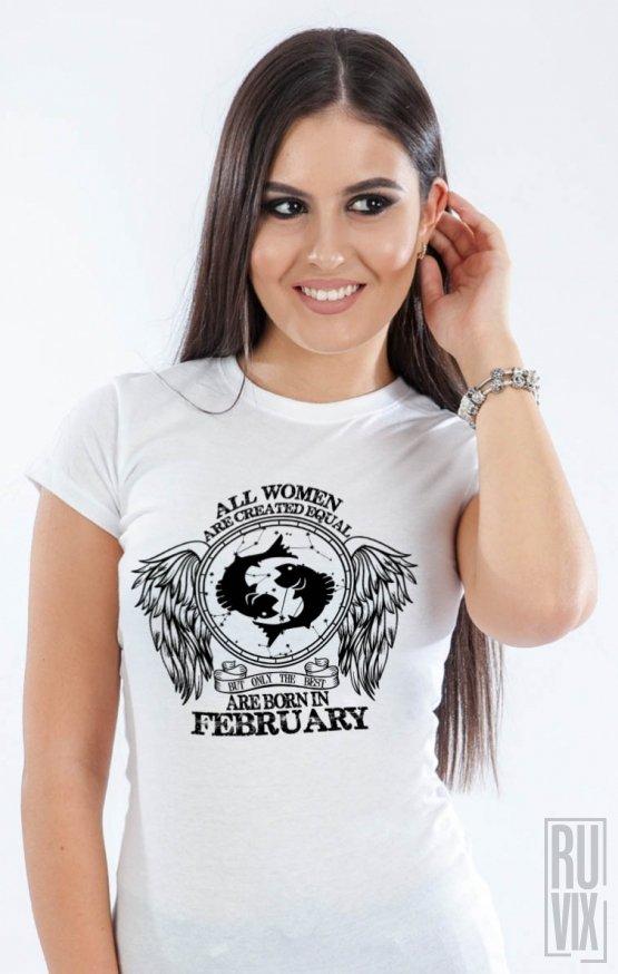 Tricou Pești - Zodiac Februarie Damă