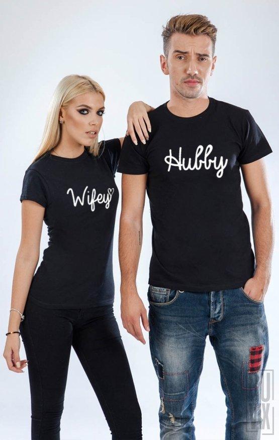 Tricouri de Cuplu Hubby and Wifey