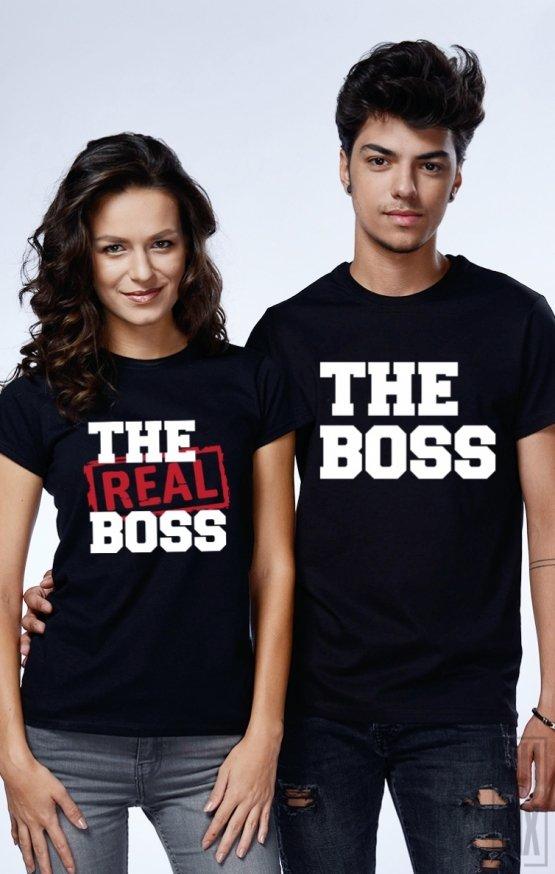Tricouri de Cuplu The Boss and Real Boss