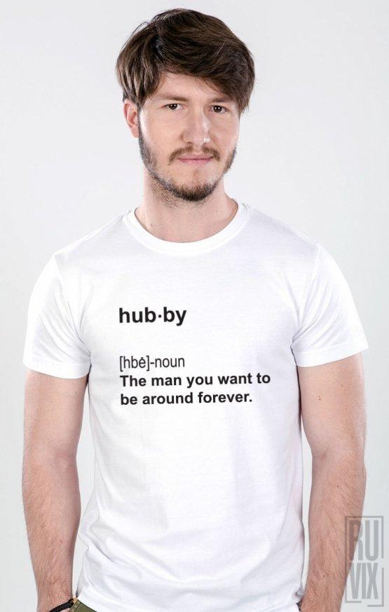Tricouri de Cuplu Dictionar Wifey and Hubby