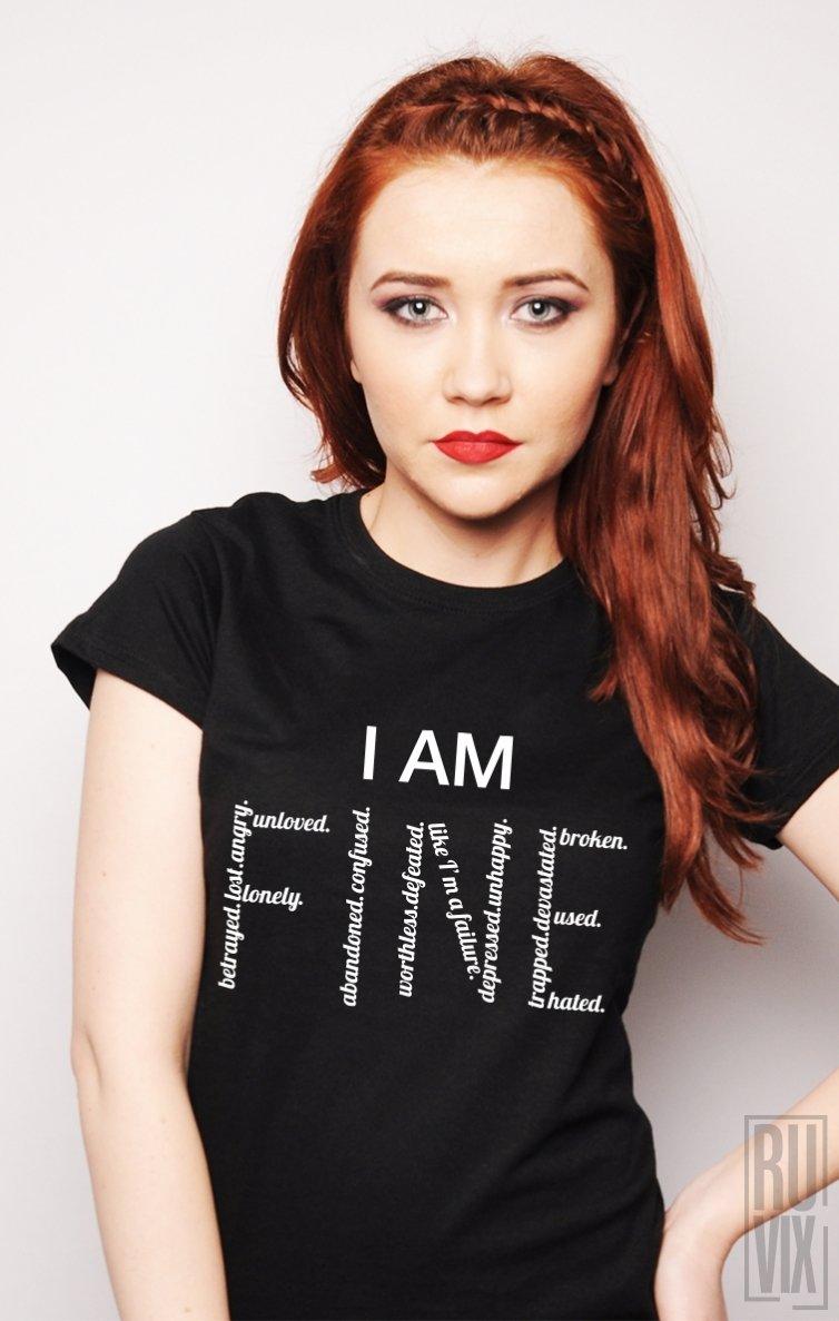PROMOȚIE Tricou I am Fine