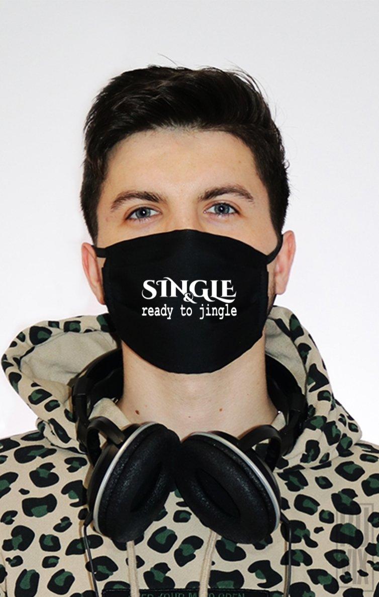 Mască Single and Ready to Jingle