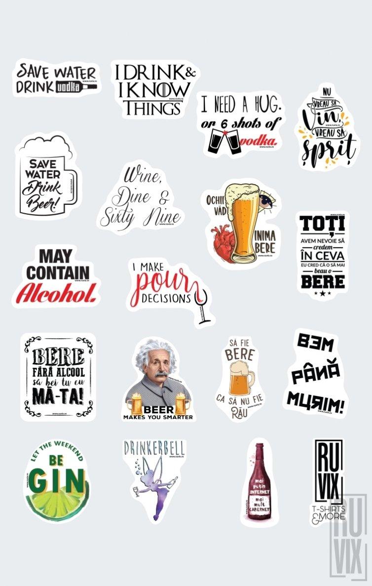 Set Stickere Alcoolizate