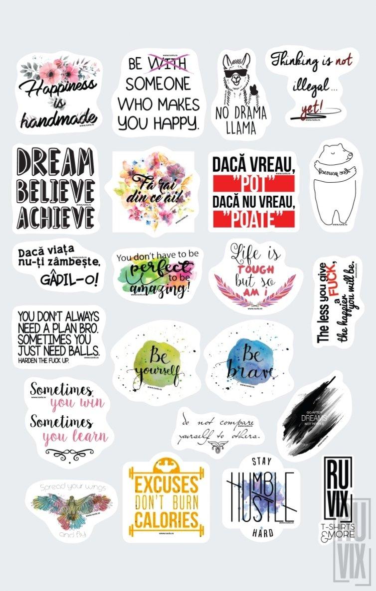 Set Stickere Motivaționale