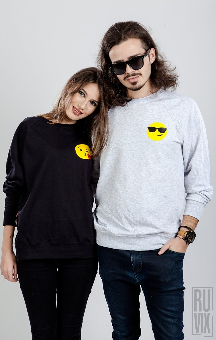 Set Sweatshirt Emoticon Pupic + Ochelari