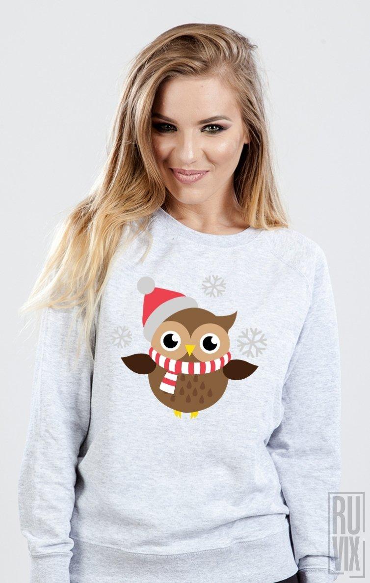 Sweatshirt Bufniță Crăciun