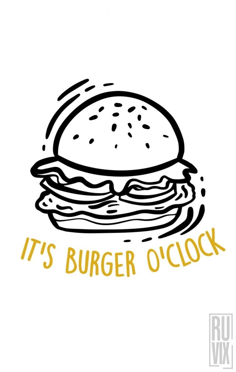 Sweatshirt Burger O'clock