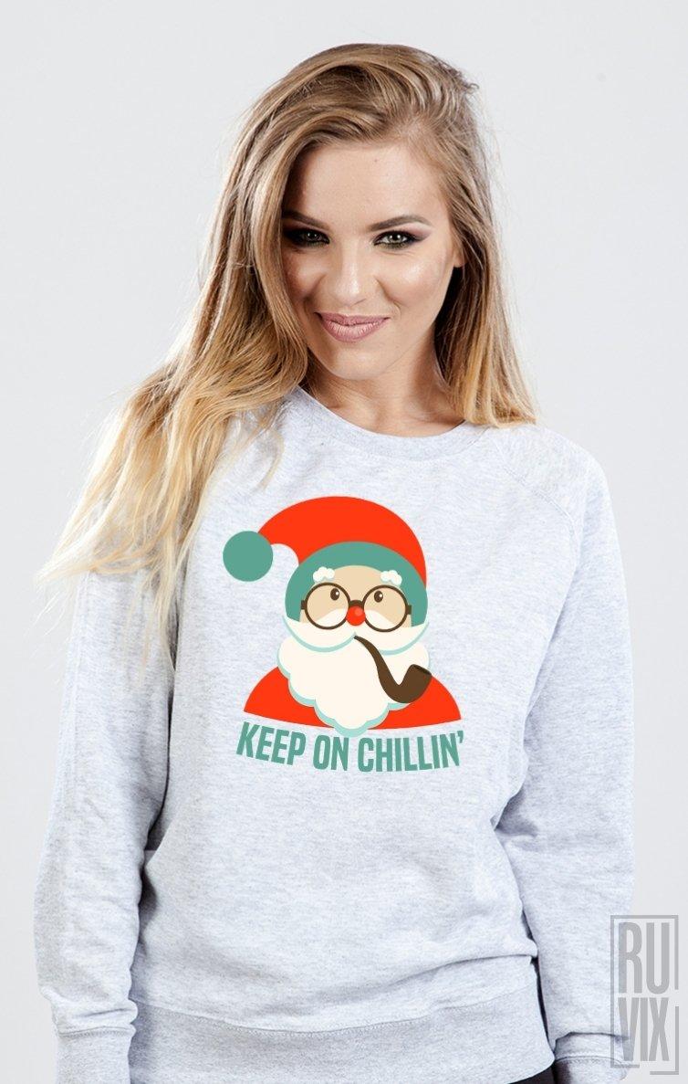 Sweatshirt Chillin' Santa