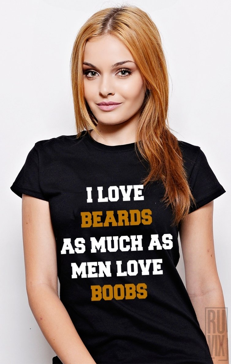 Tricou Boobs and Beards