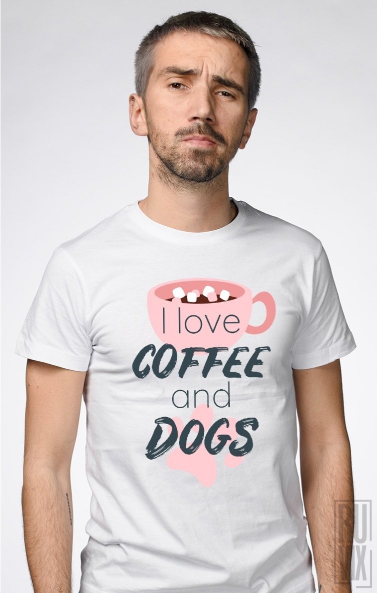 Tricou Coffee and Dogs