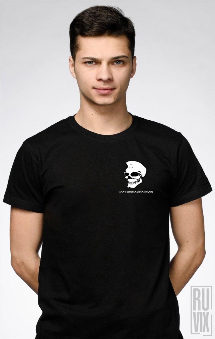 Tricou Dac Skull NEGRU