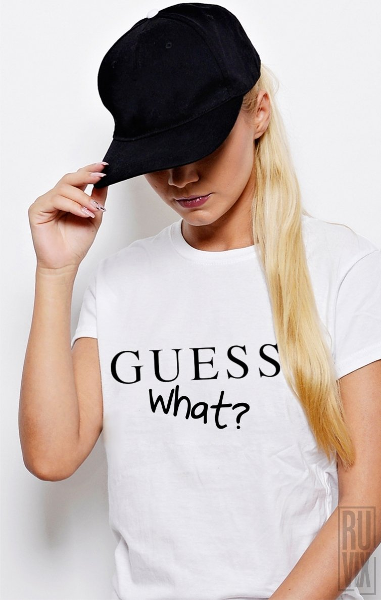 Tricou GUESS What?