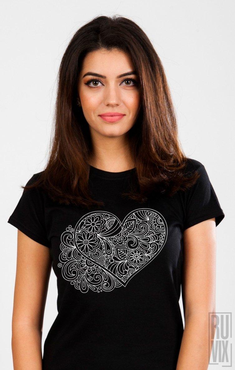 Tricou Inimă Florală