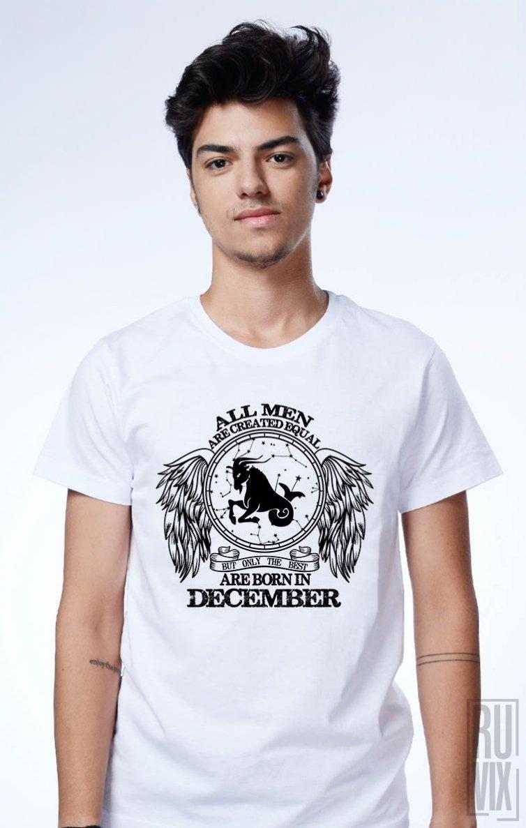 Tricou Capricorn - Zodiac Decembrie Bărbați