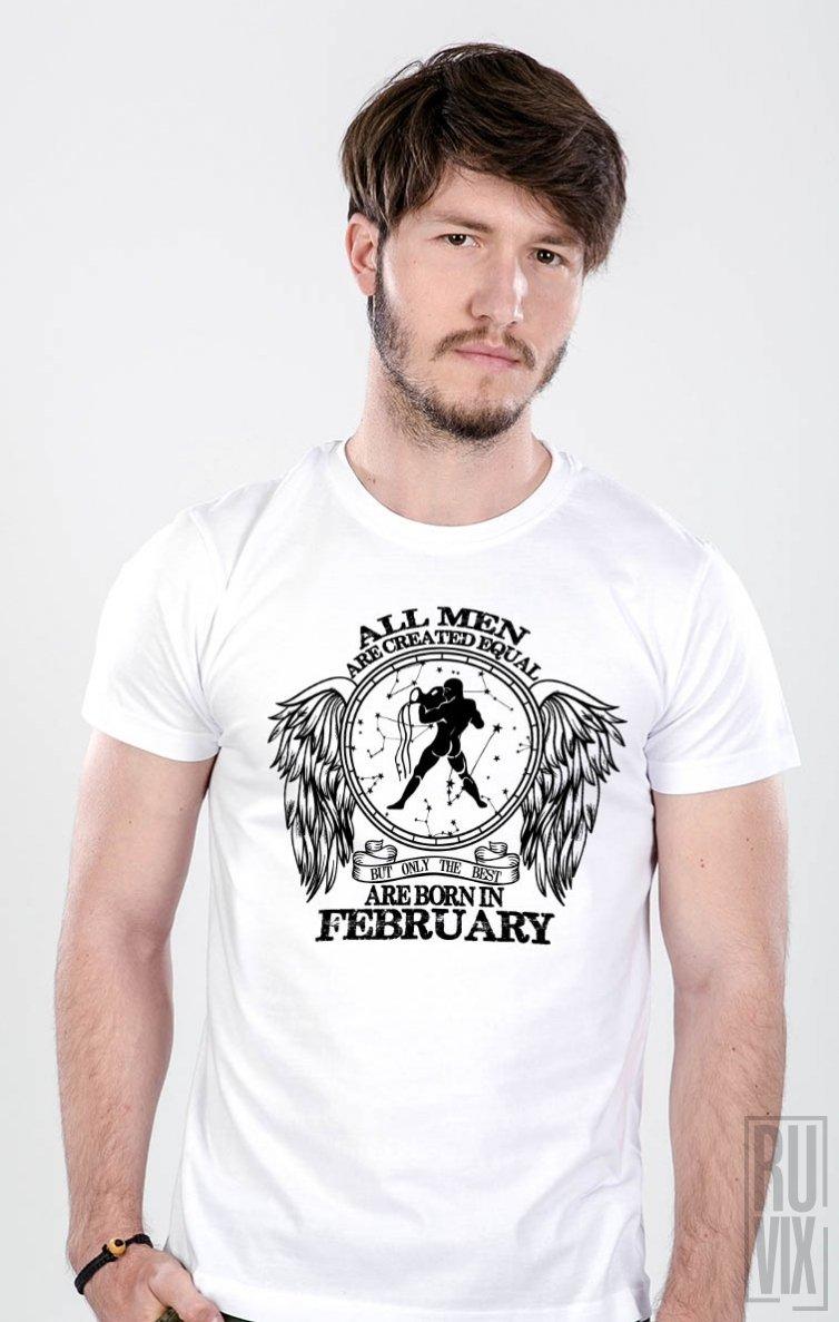 Tricou Vărsător - Zodiac Februarie Bărbați