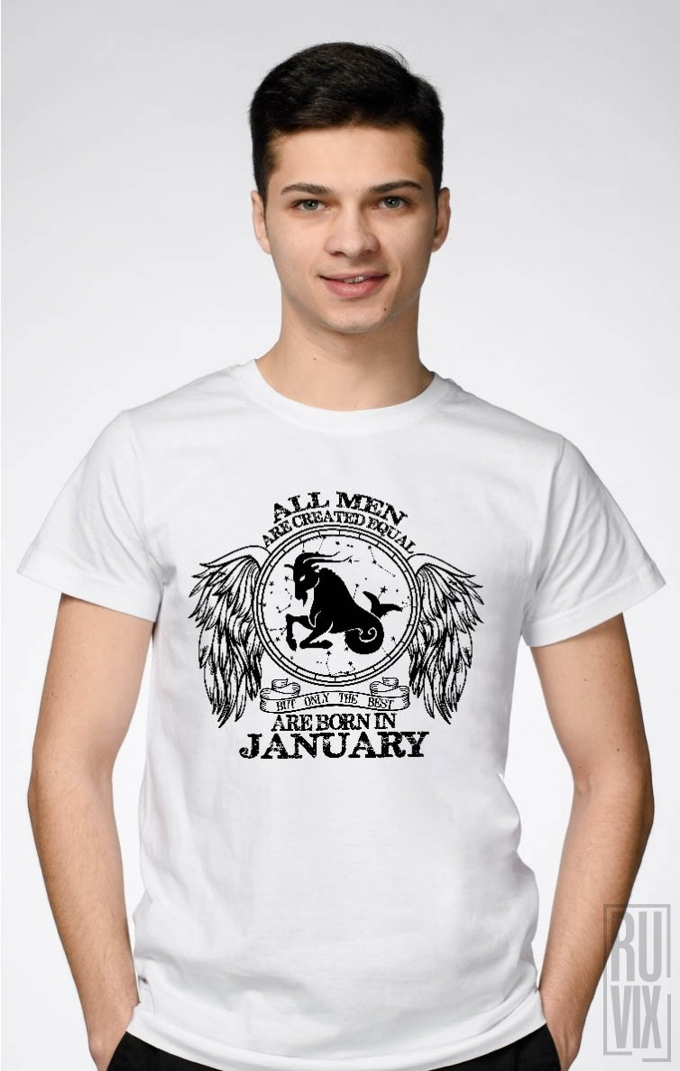 Tricou Capricorn - Zodiac Ianuarie Bărbați