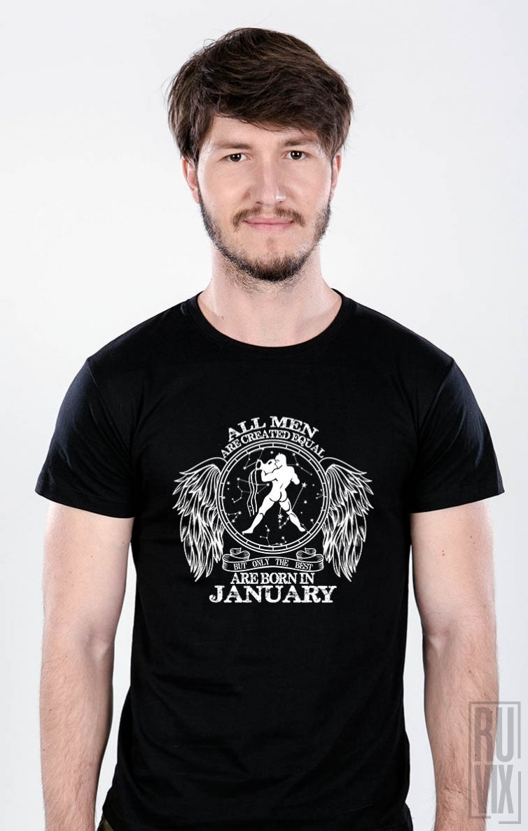 Tricou Vărsător - Zodiac Ianuarie Bărbați