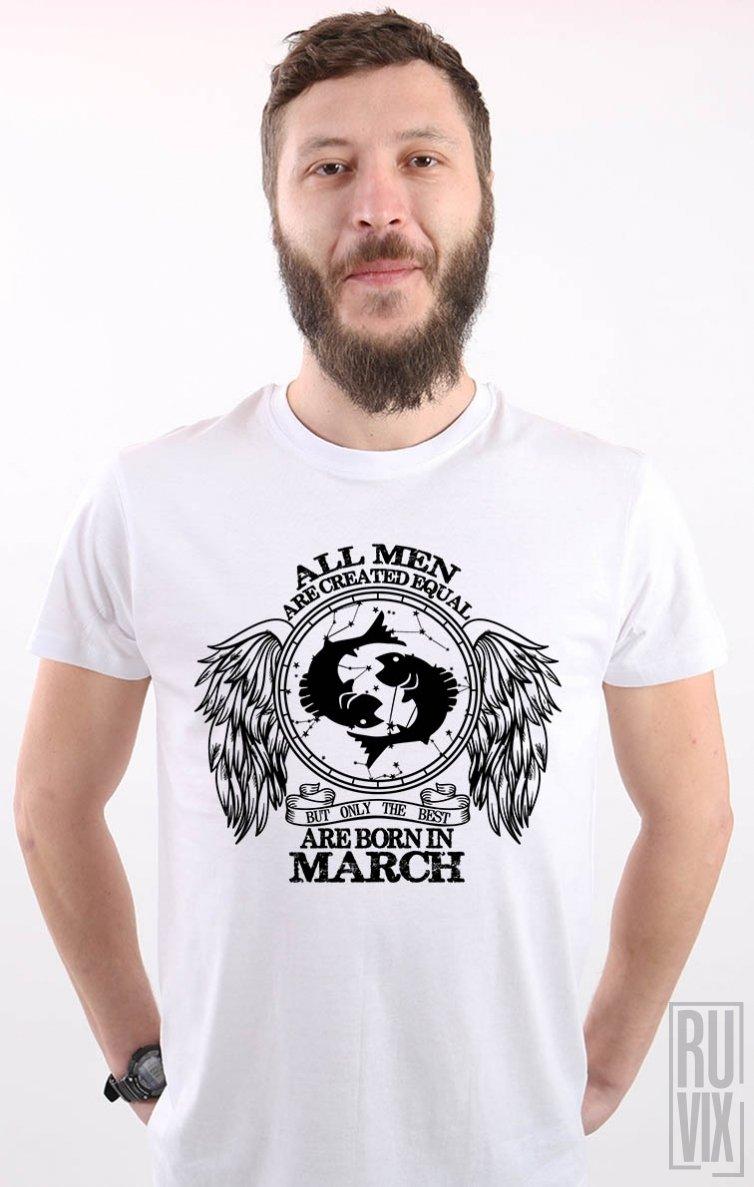 Tricou Pești - Zodiac Martie Bărbați
