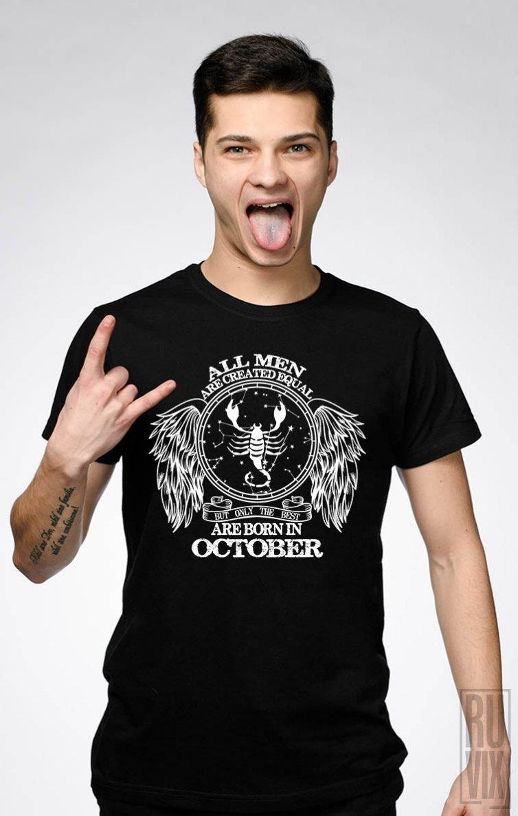 Tricou Scorpion - Zodiac Octombrie Bărbați