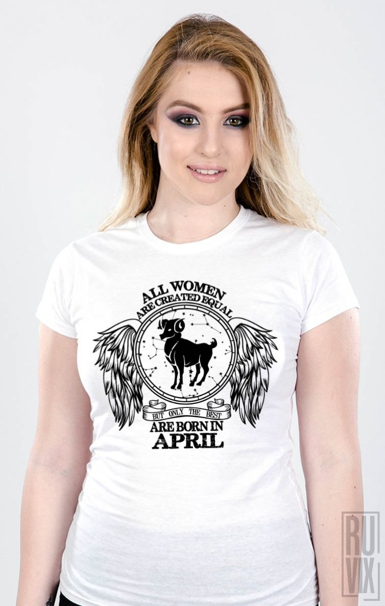 Tricou Berbec - Zodiac Aprilie Damă