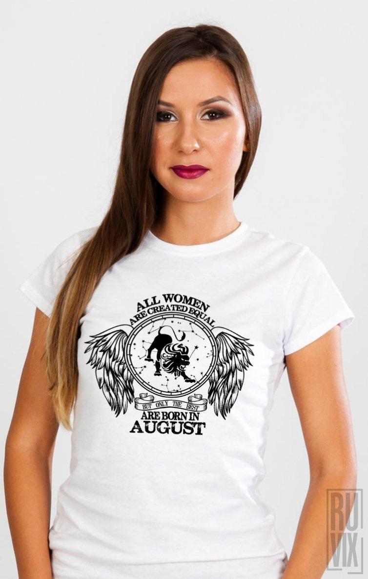 Tricou Leu - Zodiac August Damă