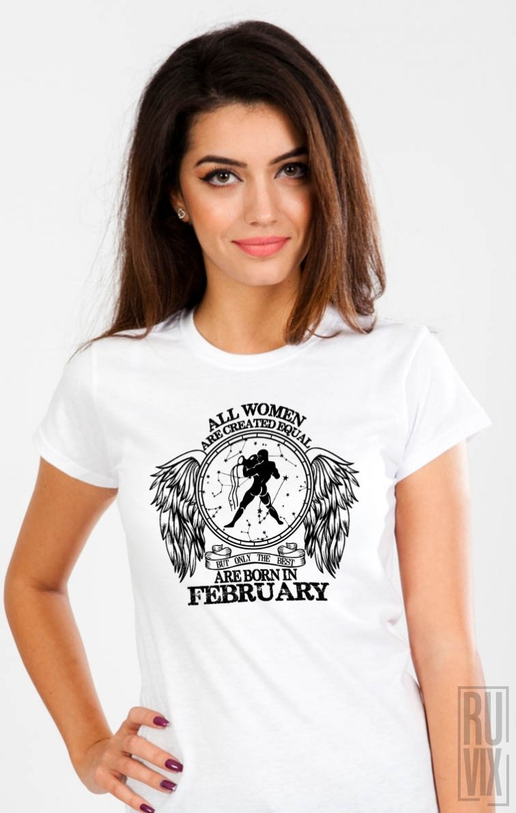 Tricou Vărsător - Zodiac Februarie Damă