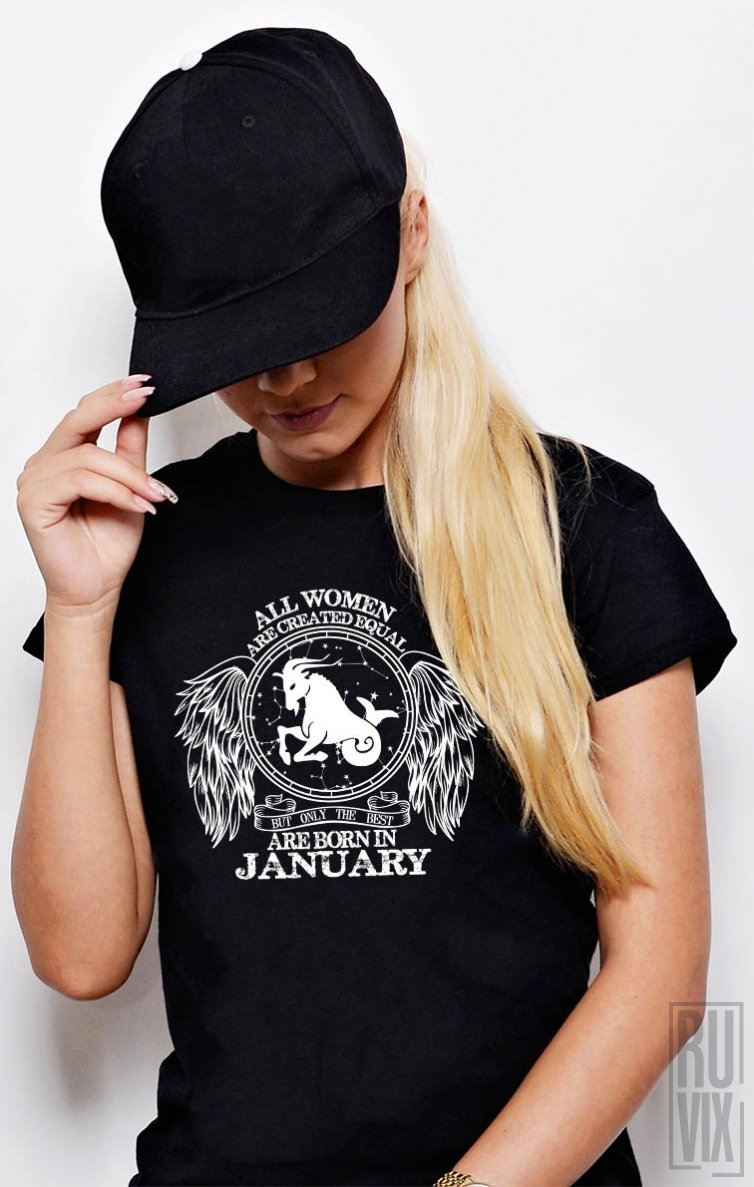 Tricou Capricorn - Zodiac Ianuarie Damă