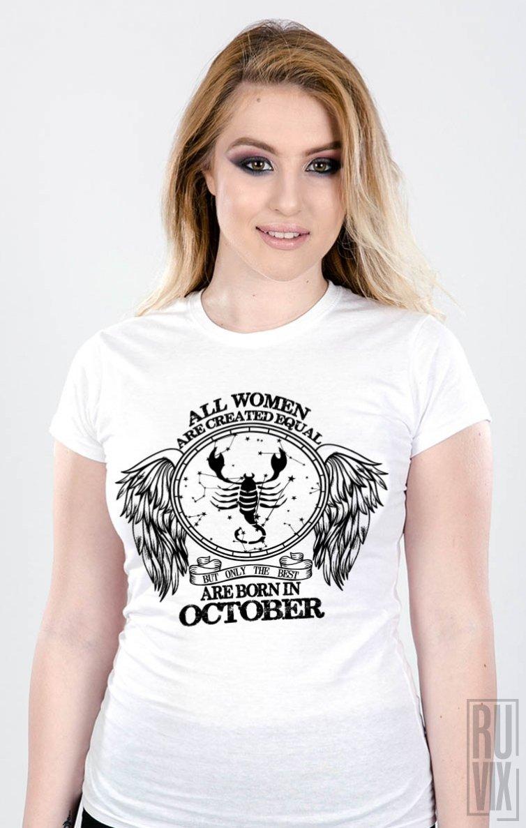Tricou Scorpion - Zodiac Octombrie Damă