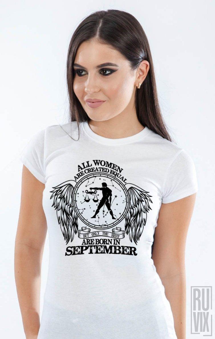 Tricou Balanță - Zodiac Septembrie Damă