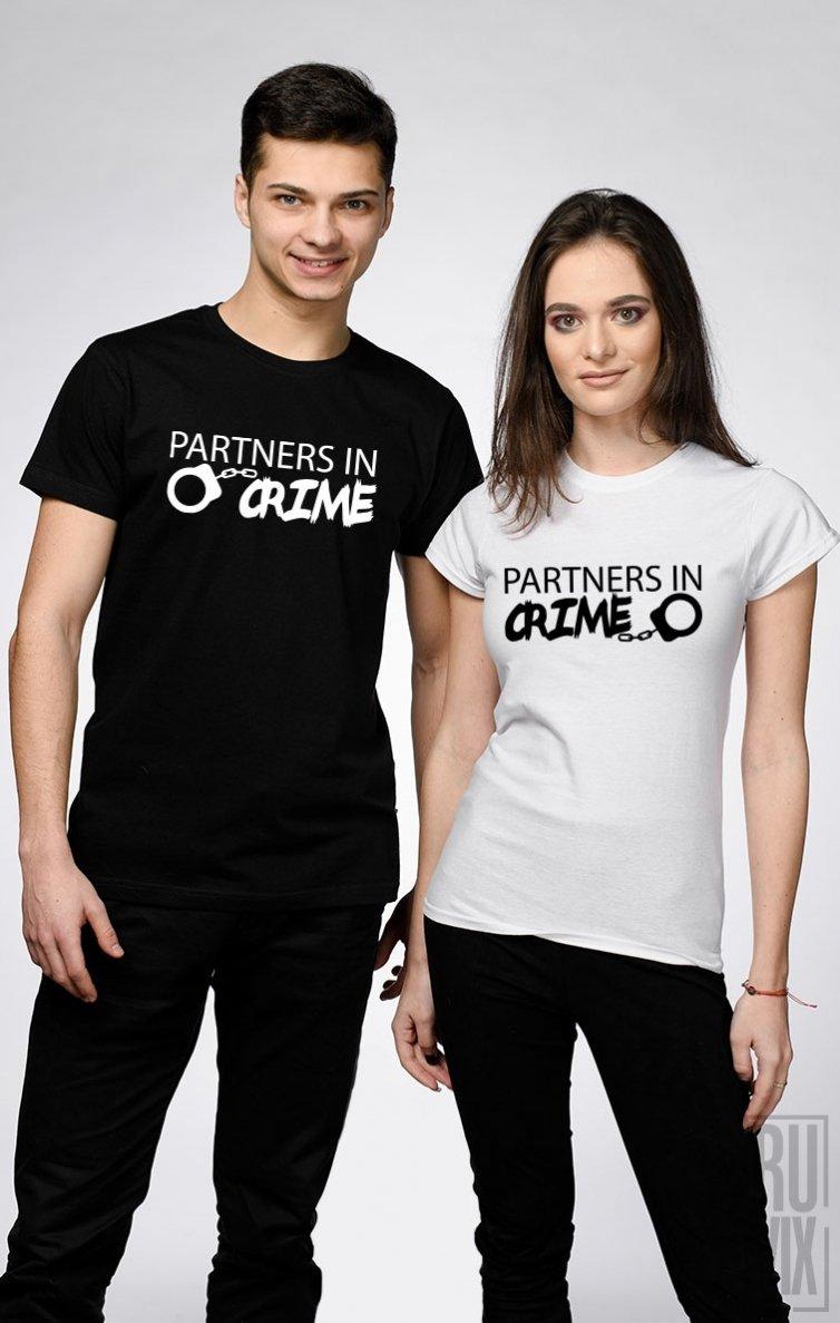 Tricouri de Cuplu Partners in Crime