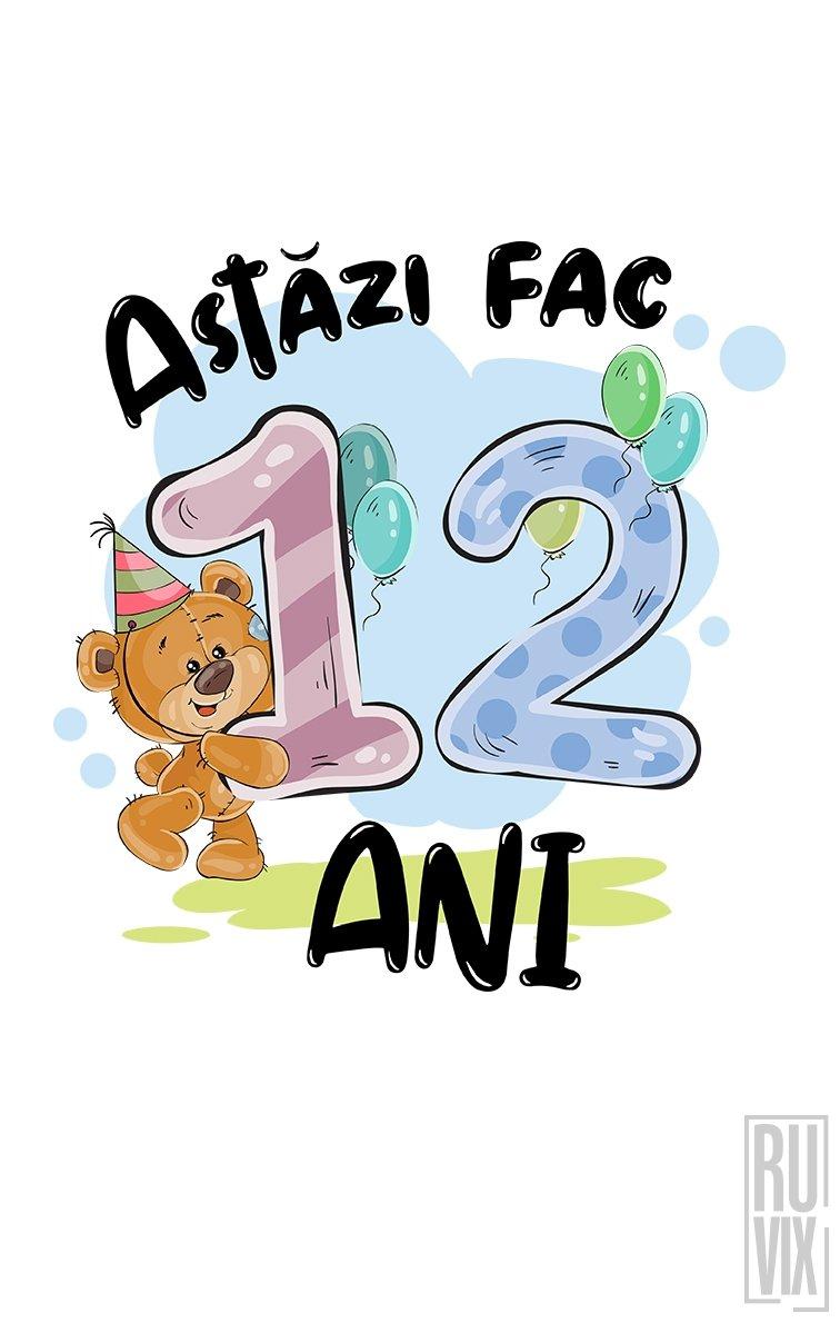 Tricou de Copii ASTĂZI FAC 12 ANI
