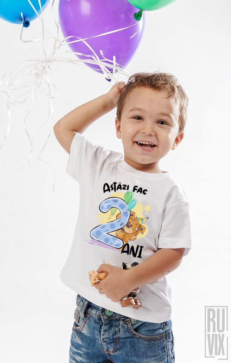 Tricou de Copii ASTĂZI FAC 2 ANI