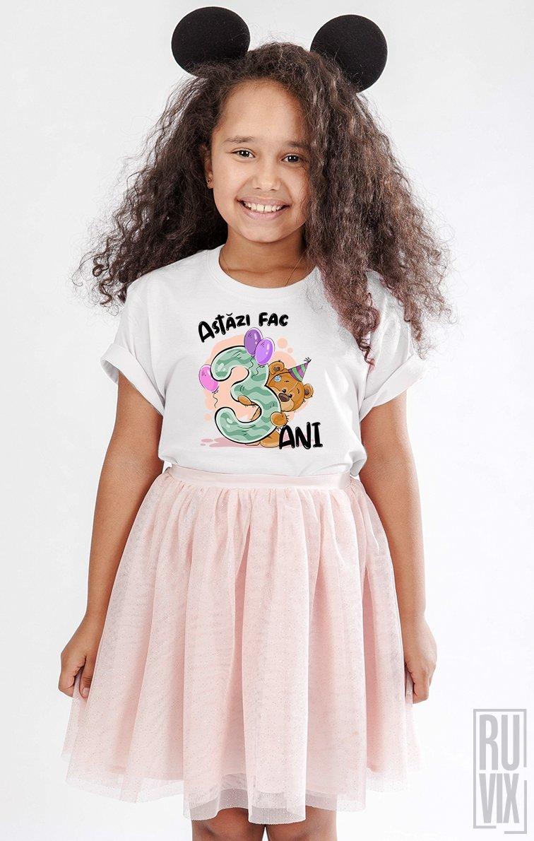 Tricou de Copii ASTĂZI FAC 3 ANI