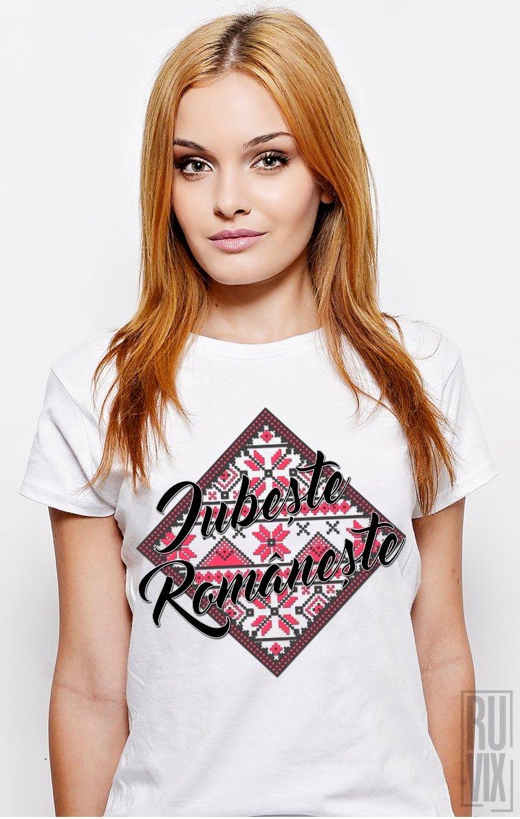 Tricou Iubește Românește ROȘU