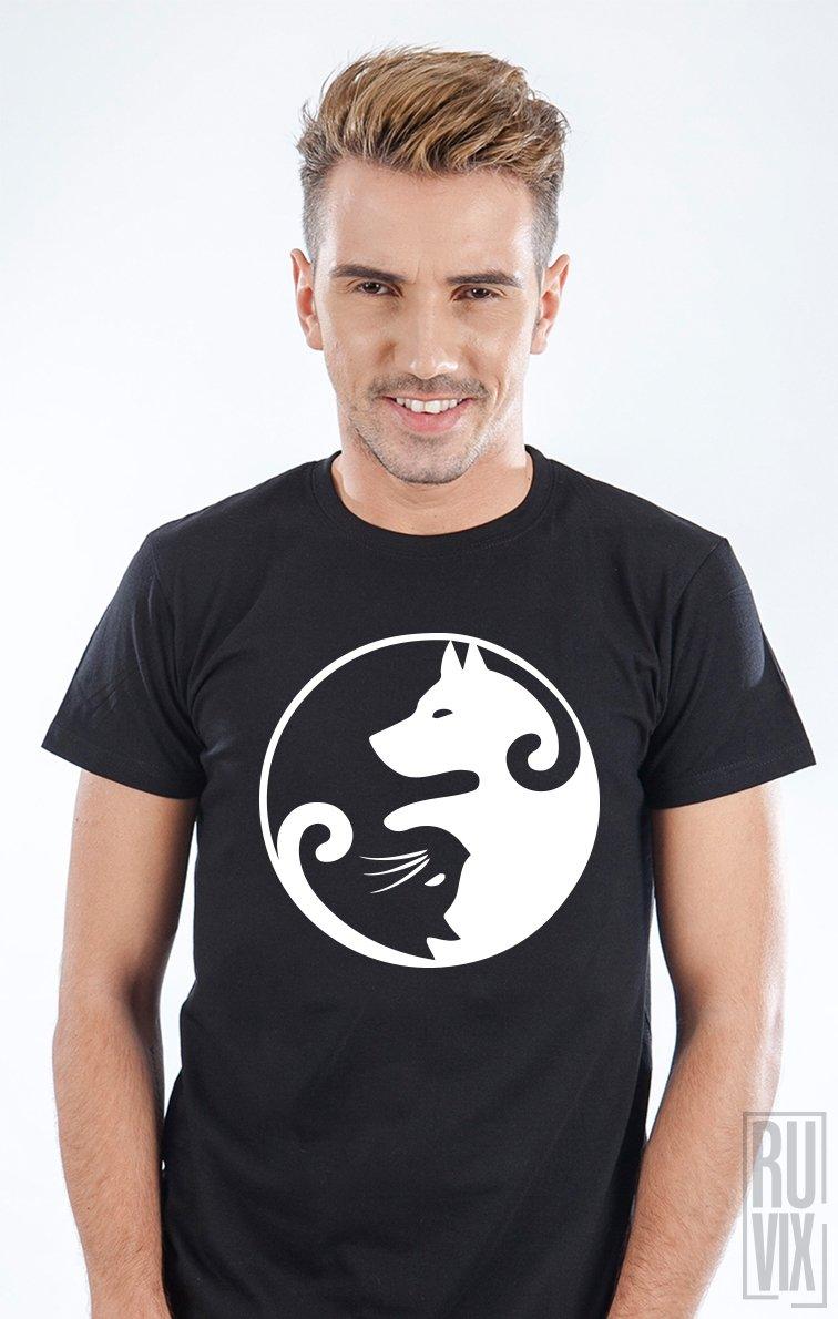 Tricou Yin Yang Dog Cat