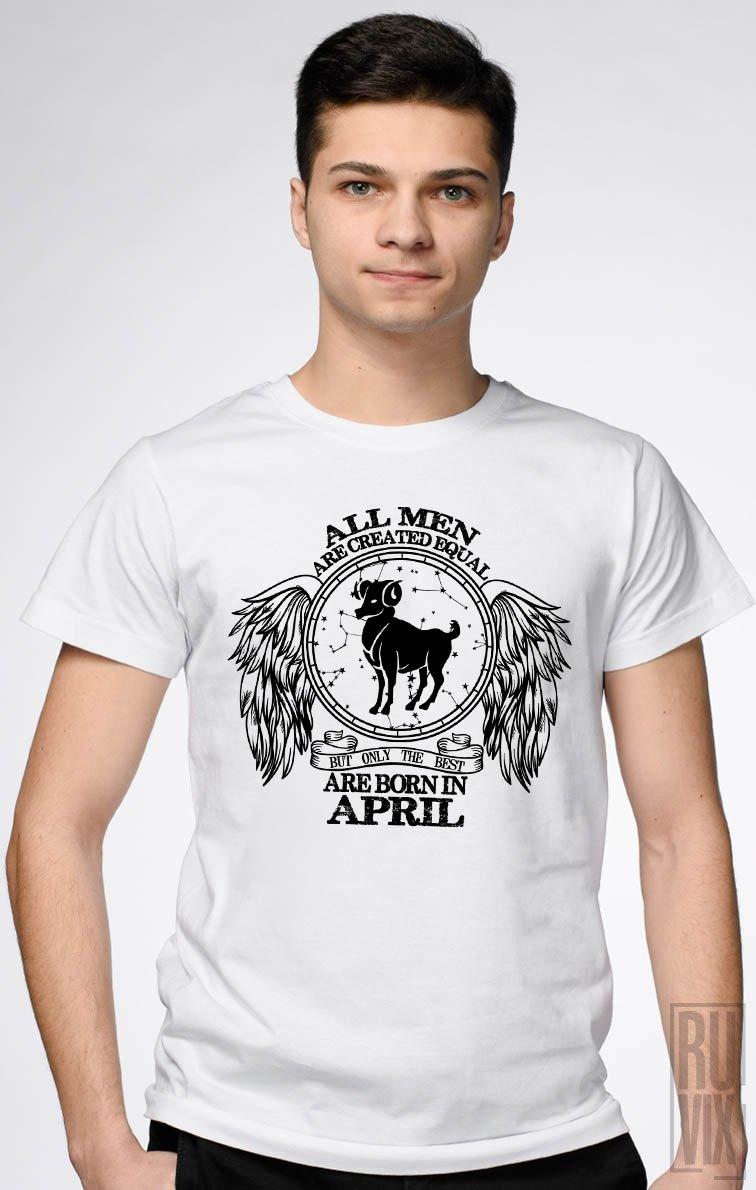Tricou Berbec - Zodiac Aprilie Bărbați