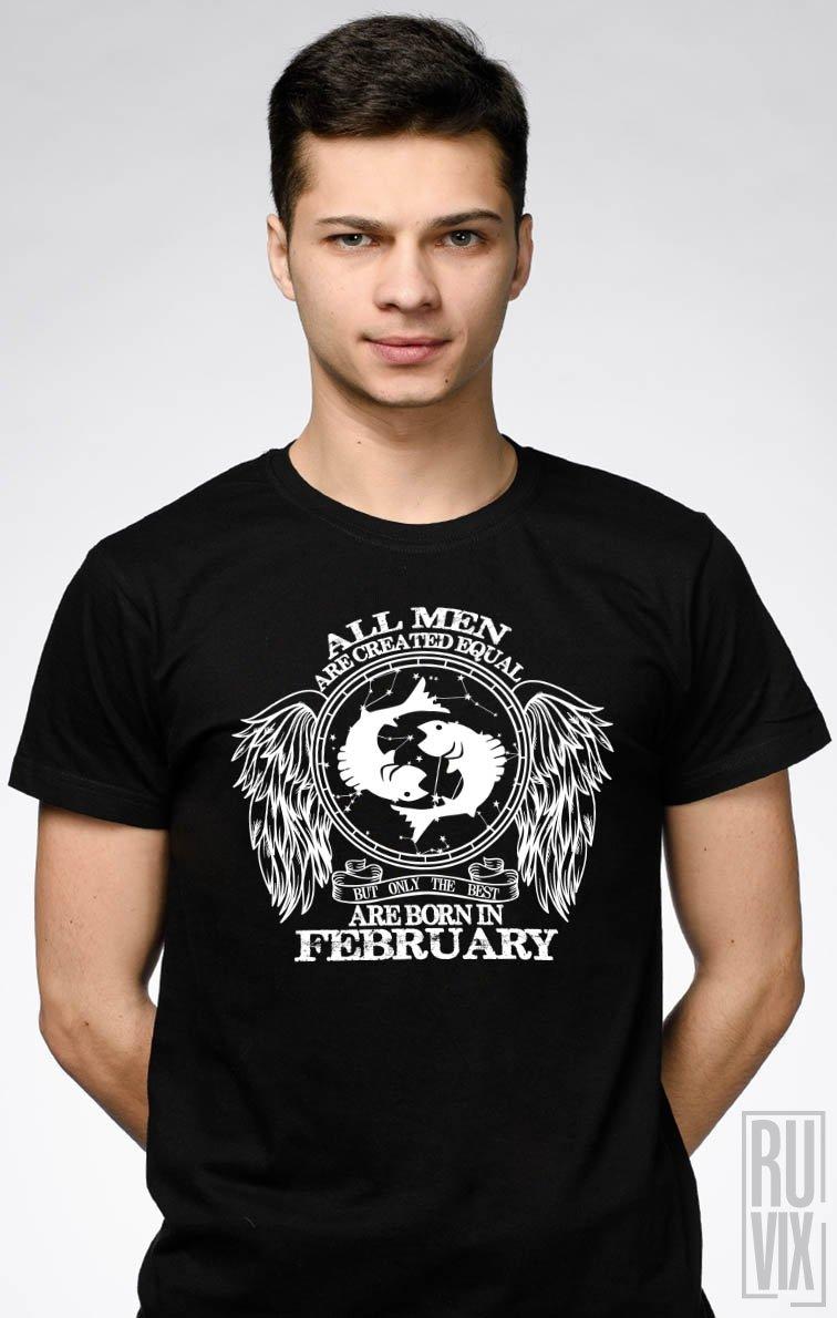Tricou Pești - Zodiac Februarie Bărbați