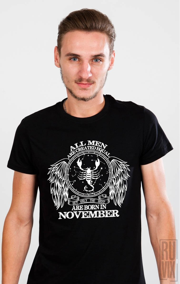 Tricou Scorpion - Zodiac Noiembrie Bărbați