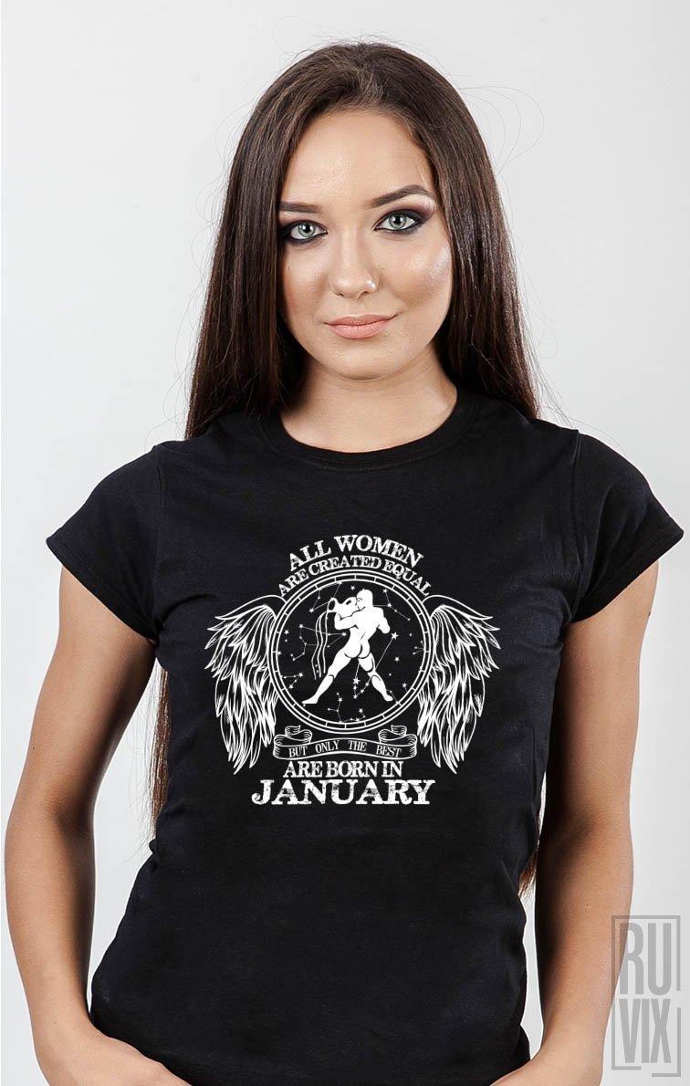 Tricou Vărsător - Zodiac Ianuarie Damă