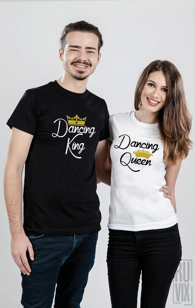 Tricouri de Cuplu Dancing King and Queen