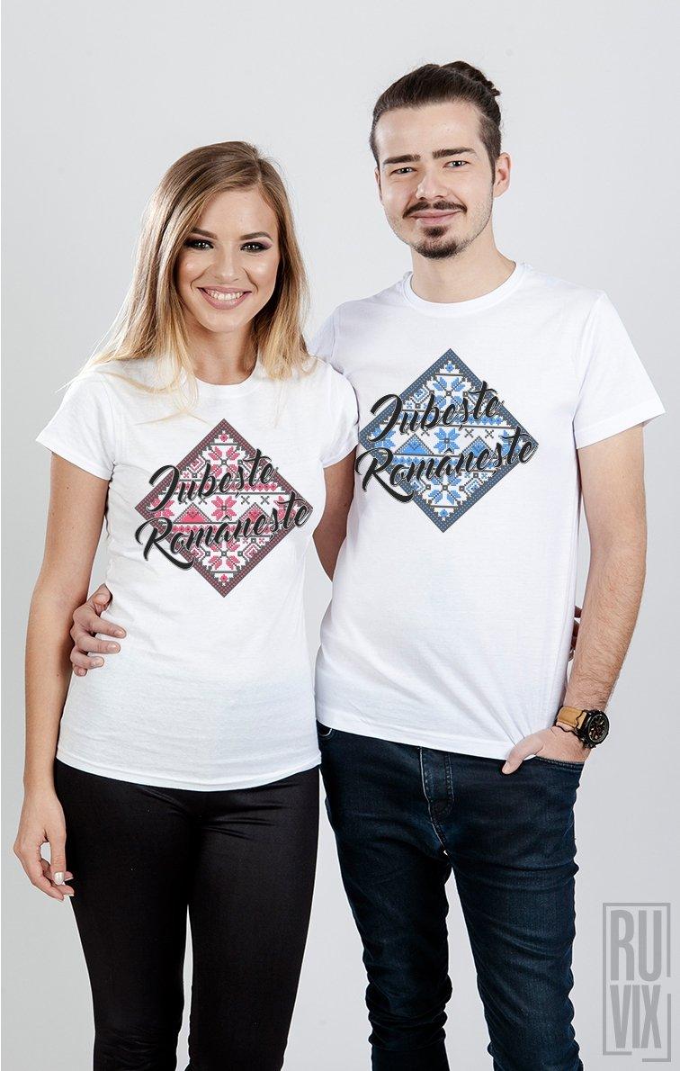 Tricouri de Cuplu Iubește Românește