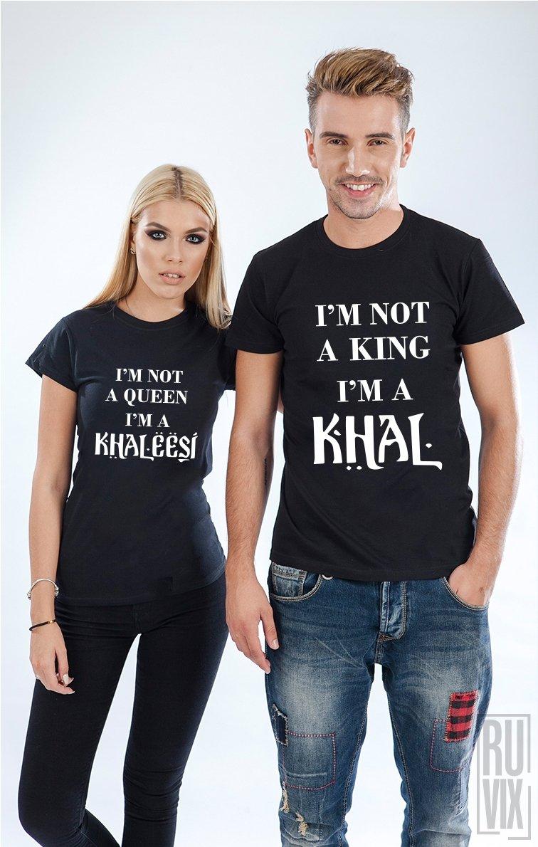 Tricouri de Cuplu Khaleesi and Khal